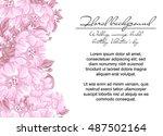 romantic invitation. wedding ... | Shutterstock . vector #487502164