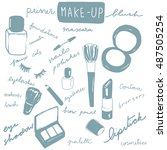 vector illustration set of... | Shutterstock .eps vector #487505254