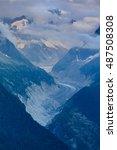 glacier mer de glace   mont... | Shutterstock . vector #487508308