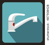 tap water icon in flat style on ...   Shutterstock .eps vector #487508428