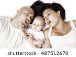 caucasian baby girl with her... | Shutterstock . vector #487512670