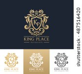 king place luxury brand logo... | Shutterstock .eps vector #487516420