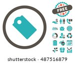 tag icon with free bonus design ... | Shutterstock .eps vector #487516879