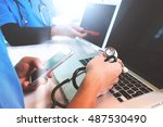 medical technology network... | Shutterstock . vector #487530490