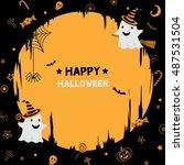 illustration vector of happy... | Shutterstock .eps vector #487531504