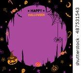 illustration vector of happy... | Shutterstock .eps vector #487531543