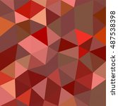 polygonal abstract background.... | Shutterstock .eps vector #487538398