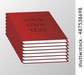 isolated 3d books illustration. ... | Shutterstock .eps vector #487538698
