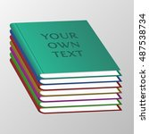 isolated 3d books illustration. ... | Shutterstock .eps vector #487538734