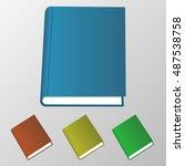 isolated 3d books illustration. ... | Shutterstock .eps vector #487538758
