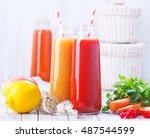 juice from fruit and vegetables | Shutterstock . vector #487544599