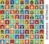 81 premium quality avatar... | Shutterstock .eps vector #487546183