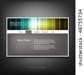website design template  vector. | Shutterstock .eps vector #48755734