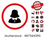 woman pictograph with free... | Shutterstock .eps vector #487564390