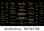 vintage decor elements and... | Shutterstock . vector #487565788