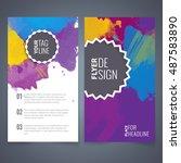 abstract vector brochure... | Shutterstock .eps vector #487583890