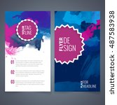 abstract vector brochure... | Shutterstock .eps vector #487583938