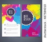 abstract vector brochure... | Shutterstock .eps vector #487584010