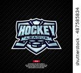 modern professional hockey... | Shutterstock .eps vector #487585834