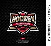 modern professional hockey... | Shutterstock .eps vector #487585840