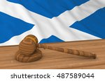 scottish law concept   flag of... | Shutterstock . vector #487589044