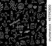chemistry background  seamless... | Shutterstock .eps vector #487592800