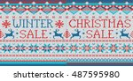winter sale  christmas sale  2... | Shutterstock .eps vector #487595980