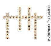 communication concept board... | Shutterstock .eps vector #487600684