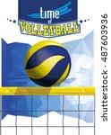 vector volleyball championship...   Shutterstock .eps vector #487603936