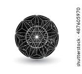 geometric shape. sacred... | Shutterstock .eps vector #487605970