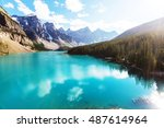 beautiful turquoise waters of... | Shutterstock . vector #487614964