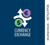 vector logo currency exchange | Shutterstock .eps vector #487615936