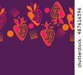horizontal seamless pattern of... | Shutterstock . vector #487616596