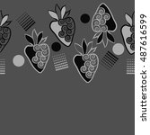 horizontal seamless pattern of... | Shutterstock . vector #487616599