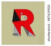 r alphabet letter logo.... | Shutterstock .eps vector #487619503