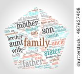 family relations word cloud | Shutterstock .eps vector #487627408