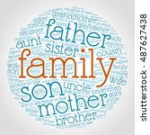 family relations word cloud | Shutterstock .eps vector #487627438