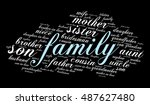 family relations word cloud | Shutterstock .eps vector #487627480