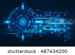 abstract technology background... | Shutterstock .eps vector #487634200