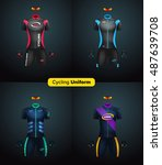realistic vector cycling... | Shutterstock .eps vector #487639708