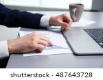 businessman working with... | Shutterstock . vector #487643728