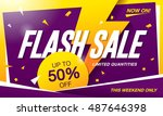 flash sale banner template... | Shutterstock .eps vector #487646398