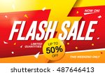 flash sale banner template... | Shutterstock .eps vector #487646413