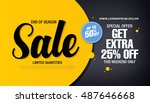 sale banner template design | Shutterstock .eps vector #487646668