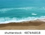 aerial view of tropical ocean... | Shutterstock . vector #487646818