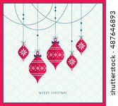 christmas card | Shutterstock .eps vector #487646893