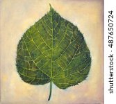The Linden Leaf. A Hand Painte...
