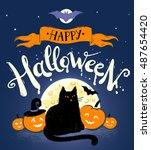 Happy Halloween Vector Postcar...