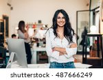 start up of enterprise  women... | Shutterstock . vector #487666249