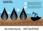 oil and gas infographic design... | Shutterstock .eps vector #487669000